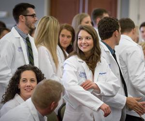Large group of dental students at event