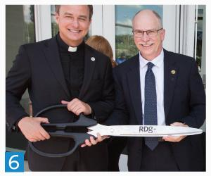 6. Dean Latta with Creighton President the Rev. Daniel S. Hendrickson, SJ, PhD, at the official opening ceremony of the new dental school building.